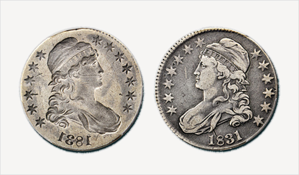 Brockage is a striking error involving two coins.  This occurs when a normally struck coin sticks to the end of a die and strikes a blank coin resulting to a depressed mirror image on the blank coin.