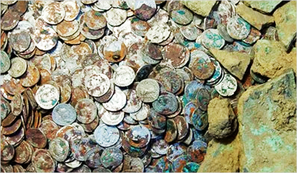 Metal detecting coins