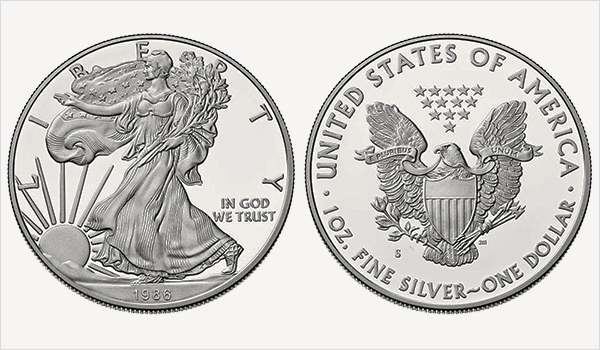 1986 S American Silver Eagle Bullion Coin Proof