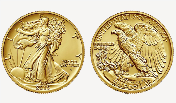 2016-W US Gold Centennial Walking Liberty Half Dollar