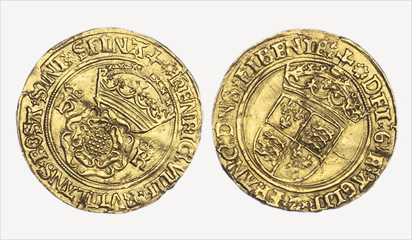 Henry VIII Gold Crown of the Rose coin